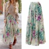 Buy New Boho Women Floral Dress Long Maxi Full Skirt Summer Beach Sun Dresses Beach Green Intl Cheap On China