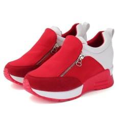 Buy New Casual Women S Sneakers Zip Wedge Hidden Heel Running Sport Shoes Trainers Intl China