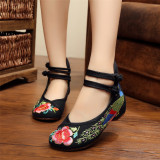 Sale New Chinese Style Women Casual Shoes Flower Sandals Embroidered Flats Mary Janes Intl Oem Original