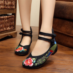 Low Price New Chinese Style Women Casual Shoes Flower Sandals Embroidered Flats Mary Janes Intl