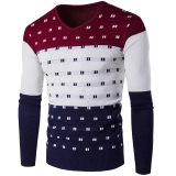 New Europe And The United States Men S Fashion V Neck Knitted Warm Sweater Intl Compare Prices