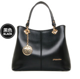 Retail Women Europe Fashion Leather Handbag Black