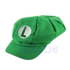 8693b4a0a59eb New Fashion Luigi Super Mario Bros Cosplay Adult Size Hat Cap Baseball  Costume(Green) - intl