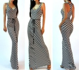Buying New Fashion S*xy Women Summer Boho V Neck Long Maxi Evening Party Beach Dress Multicolor Intl