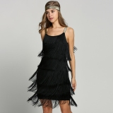 Where Can You Buy New Fashion Women Straps Dress Tassels Glam Party Dress Gatsby Fringe Flapper Costume Dress Intl