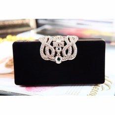 Sale New Fashion Women S Evening Party Club Clutch Wedding Bridal Purse Bag Handbag Black Intl Online China