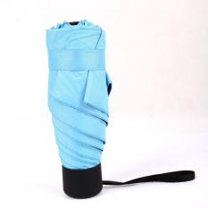 Buy Cute Yellow Vinyl Mini Parasol Five Fold Umbrella Blue Blue Online China