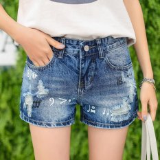 Buy New Hollow Out Ripped Women S Jeans Shorts Summer Style S*Xy Hole Denim Shorts Washes Fashion Hot Shorts Pants Blue S Intl Oem Original