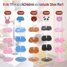 Where Can You Buy New Kid Children Cartoon Animal Pattern Shoe Rack Holder Stand Storage Organizer Black Panda Intl