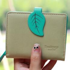 New Korean Women Lady Short Purse Fashion Short Wallet Clutch Card Holders Coin Purse Handbags Green Intl Coupon