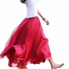 Compare Price New Maxi Long Bohemian Restore Women Shinning Chiffon Long Skirt Wine Red Intl Oem On Singapore