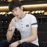 Best Reviews Of New Men Polo Shirt Fashion Skull Print Camisa Polo Summer Cotton Short Sleeve Men Shirts Tops Tees Intl