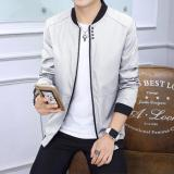 Review New Men S Fashion Slim Thin Section Bomber Jacket Grey Intl On China