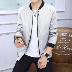 Price New Men S Fashion Slim Thin Section Bomber Jacket Grey Intl Oem Original