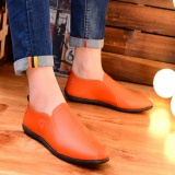 Buy New Mens Moccasin Gommino Breathable Loafers Fashion Leather Shoes Orange Intl Cheap China