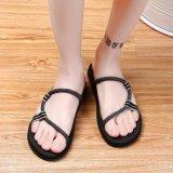 Get The Best Price For New Personality Men Handmade Woven Summer Slipper Beach Shoes Anti Slip Indoor Slipper Flip Flops Black Xz288 Intl