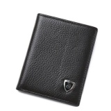 Cheaper New Promotion Men S Wallets Slim Small Size Mini Genuine Leather Wallet Credit Card Holder Bag Small Purse For Men Clutch Wallet Intl