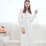 Brand New Princess Cotton Porous Pattern Lace Pajamas Lingerie