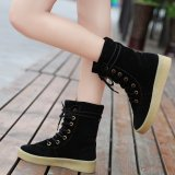 Compare New Shoes Women Boots Designer Ladies Winter Outdoor Keep Warm Fur Boots Black