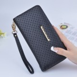 New Solid Color Ladies Wristband Clutch Fashionable Korean Version Of The Long Section Women S Zipper Wallet High Capacity Wallet Free Shipping Intl For Sale
