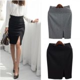 Discount Spring And Summer New Style High Waisted Ol Career Dress Gray Gray