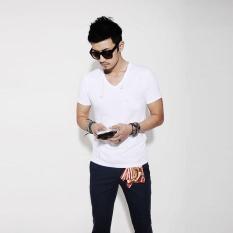 Review New Spring Summer Fashion Men T Shirt Slim Fit Cotton V Neck Man Short Sleeve Tops Shirt Casual T Shirt Tops Hot Male Blusas Intl On China
