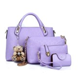 Women S Korean Style Large Shoulder Handbag Bag Set Violet Violet China