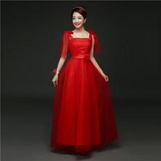 Women S Short Wedding Gown 568 Long Red Color 568 Long Red Color In Stock