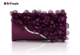Sales Price New Style Flower Bride Bag Evening Bag Purple