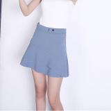 Review New Style Irregular High Waisted Slim Fit Fishtail Skirt Light Blue Oem