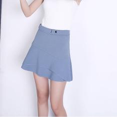 Buying New Style Irregular High Waisted Slim Fit Fishtail Skirt Light Blue