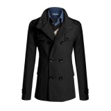 Buy New Style Men Double Breasted Coat Fashion Winter Jacket Overcoat Windbreaker Intl Oem