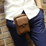 Purchase Korean Style Leather Mini Bag Men S Bag Coffee Color Online