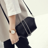 Cheap New Style Shell Bag Handbag Messenger Bag Mini Female Korean Small Bag Shoulder Bag Female Korean Style Female Bag Diagonal Small Bag Black Large