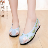 Wholesale New Style Spring And Summer Chinese Clothing Embroidered Shoes Blue