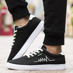 Buy Kuangmao Men S Casual Canvas Shoes Black Black Oem Original