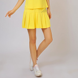 Sports In South Korea Silk Anti Breathable Sportswear Summer Pleated Skirt Culottes Yellow Yellow Sale