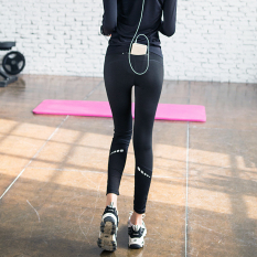 Who Sells Sports Female Stretch Slim Fit Running Pants Yoga Fitness Pants Cheap