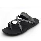 Recent Men S Korean Style Flip Flop Roman Sandal Light Gray Light Gray