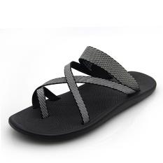 The Cheapest Men S Korean Style Flip Flop Roman Sandal Light Gray Light Gray Online