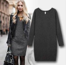Great Deal New Winter Womens Plus Size Thicken Bodycom Long Sleeve Warm Mini Dresses Intl
