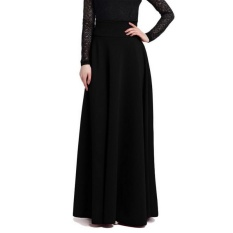 Get The Best Price For New Women High Waist Elegant Solid Color Long Skirts Big Swing Pleated Skirt Plus Size S 5Xl Intl