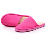 Low Price New Women Men Anti Slip Flat Shoes Soft Winter Warm Cotton House Indoor Slippers Rose Pink Intl