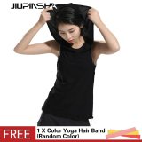 New Women Running Yoga Sports Tank Tops Hooded Sleeveless Shirt Vest Fitness Gym Quick Dry T Shirt Intl For Sale Online