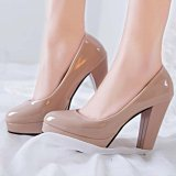 Retail Price New Women S Classic High Heels Lady Spring Shoes Platform Pumps Comfy Color Apricot Intl