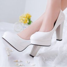New Women S Classic High Heels Lady Spring Shoes Platform Pumps Comfy Color White Intl On Line