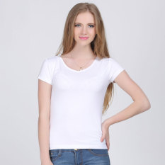 Summer White Bamboo Fiber New Style Women S Plus Sized Loose Short Sleeved T Shirt Best Price