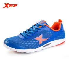 Cheaper New Xtep Original Running Shoes Sneaker For Men Sports Athletic Men S Fashion Breathable Rubber Shoes Blue Orange