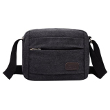 Sale Niceeshop Men S Vintage Canvas Sch**l Bag Messenger Shoulder Bags Black Online China