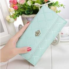 niceeshopWomen Lady Leather Clutch Wallet Long PU Card Holder Purse Long Wallet( Lake Blue)